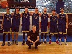 Mladí basketbalisté Slavoje Litoměřice.