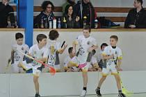 STŘÍDAČKA. Florbalový turnaj mladých lovosických nadějí.