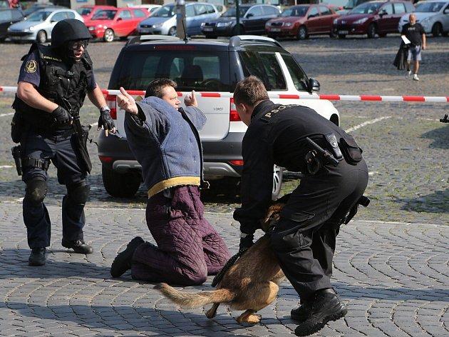 """V pátek se na Mírovém náměstí v Litoměřicích konal již 8. ročník """"Dne policie a integrovaného záchranného systému""""."""