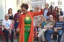 Součástí slavnostní vernisáže bylo i taneční vystoupení.