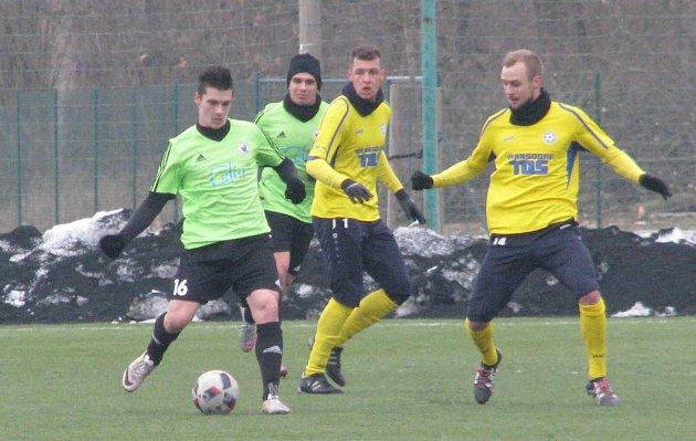 Přípravný fotbal Litoměřicko - Varnsdorf 0:1.