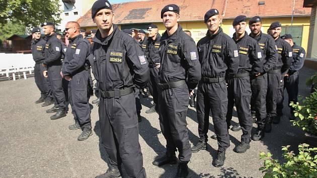 Zahájení Policejního mistrovství ČR speciálních pořádkových jednotek v Litoměřicích