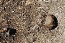 Archeologický výzkum v Libochovicích.