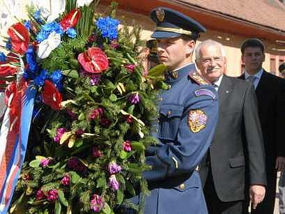 Prezident Václav Klaus v Terezíně