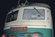 Na lokomotivu zaútočil u Roudnice vandal.
