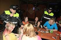 Policejní kontroly mladistvých.