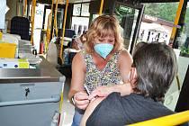 Další zastávkou očkovacího autobusu byla Zahrada Čech na litoměřickém výstavišti.