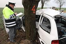 Tragická nehoda u Rohatců na Roudnicku - pondělí 22. 11. 2010.