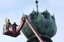 Skenování věže Kalich na litoměřické radnici