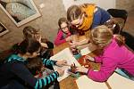 Severočeská galerie výtvarného umění uspořádala dílničku pro děti.