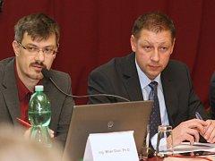 Noví čelní představitelé města. Milan Dian (vlevo), Vladimír Šuma (vpravo)