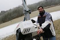 Sjezdovka na Malečově čeká na sníh a na mráz. Na snímku Miroslav Fára.