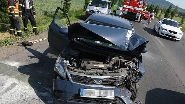 Dopravní nehoda na silnici z Litoměřic do Terezína