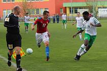 Přípravný fotbalový duel ČR U15 - Irsko U15 v Brozanech.