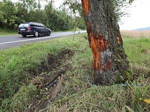 Fotografie z místa tragické nehody u Úštěku