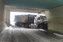Nehoda kamionu u Štětí.