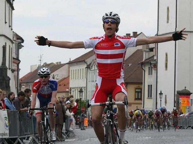 V litoměřické etapě se z vítězství radoval Dán Mikkel Schioler.