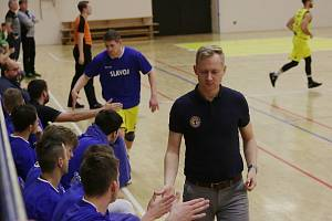 Jan Šotnar (v civilu) během angažmá v Litoměřicích je novým koučem ústecké Slunety. V pozadí Alexandr Novák, který nyní u ústeckého klubu působí jako asistent trenéra.