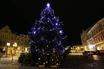 Vánoční strom v Roudnici nad Labem.