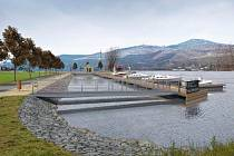 Vizualizace plánovaného přístavu Malé Žernoseky na Litoměřicku