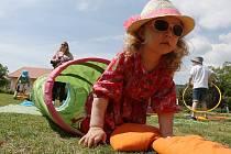 ŘADA ROZMANITÝCH AKTIVIT byla v sobotu připravená pro návštěvníky parku Václava Havla v Litoměřicích v rámci akce nazvané Den rodiny.