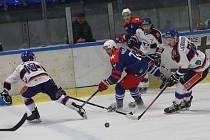 Hokejový zápas mezi Litoměřicemi a Třebíčí, Chance liga 2019/2020