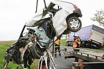 Tragická dopravní nehoda u Liběšic - středa 8. září 2010.