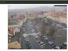 Záběr veřejné webkamery ze stránek Města Litoměřice v úterý 13. listopadu