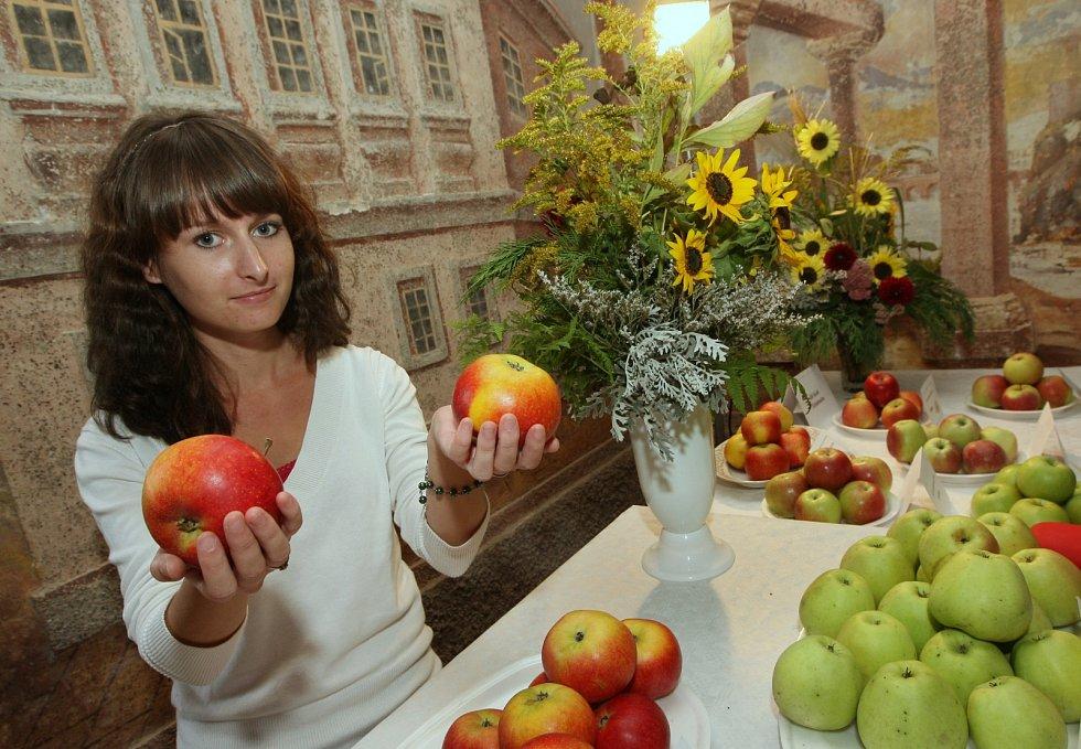 Státní zámek Ploskovice, výstava jablek, 2014