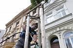 Nový zavlažovací vak v Palachově ulici u kina Máj v Litoměřicích