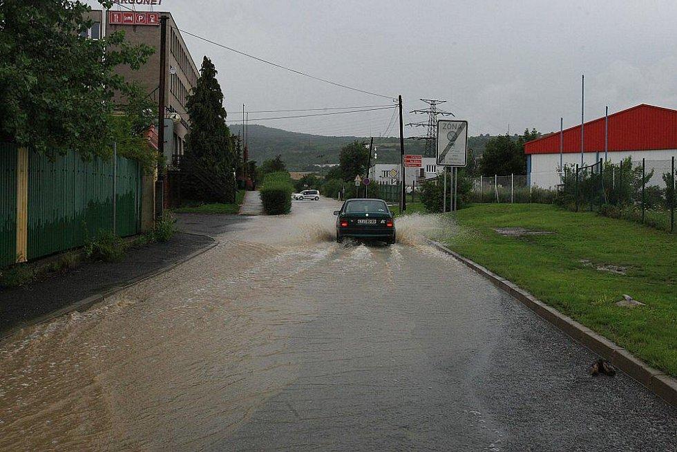 Sobota 7. srpna 2010 - Kamýcká ulice Litoměřice.