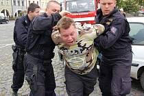 Den s policisty v Litoměřicích.