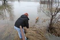 Povodeň v Pístech, úterý 18. ledna 2011.