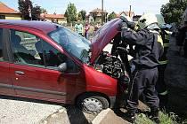 Nehoda na přejezdu v Libochovicích