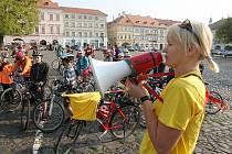 Školáci jízdou městem odstartovali akce k Evropskému týdnu mobility 2014