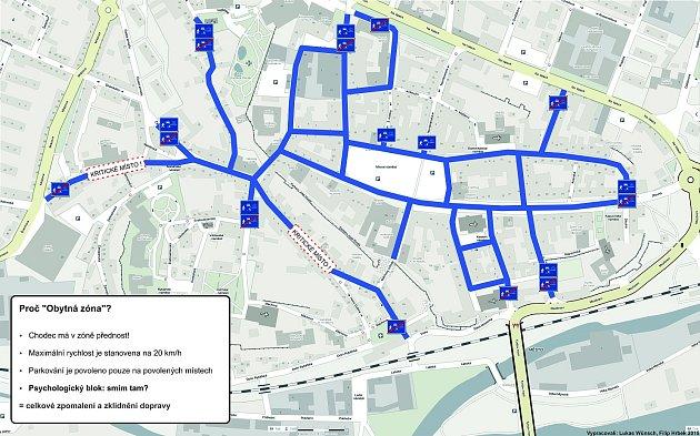 Návrh obytné zóny vcentru Litoměřic