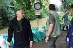 Povodeň 2002: Píšťany - evakuace 14. srpen