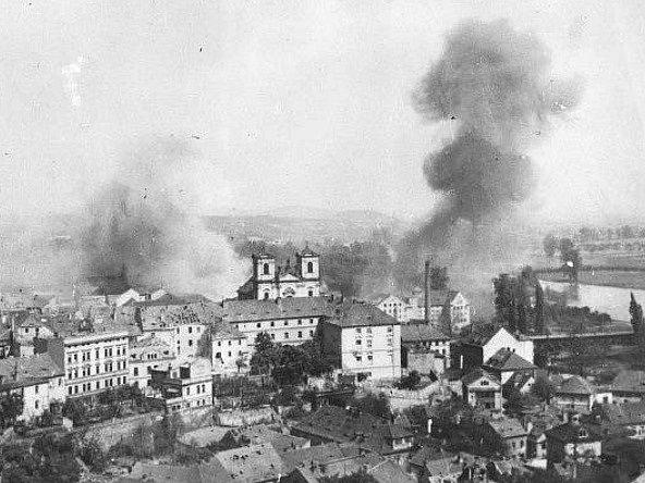Litoměřice po bombardování