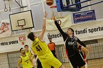 Basketbalový zápas mezi Litoměřicemi a GBA EU, play-off 2018/2019