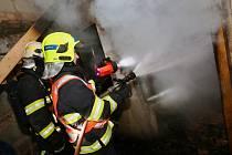 Požár kotelny rodinného domu v obci Klapý