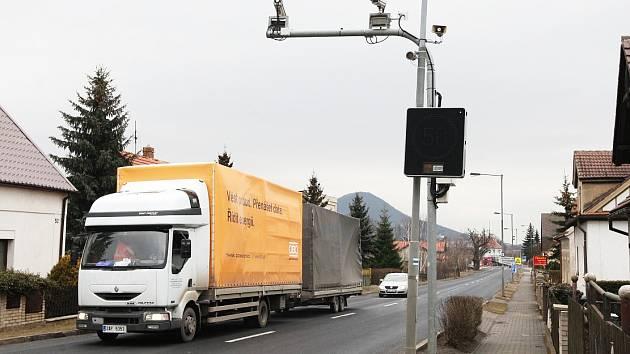 Kamiony ve Velemíně.