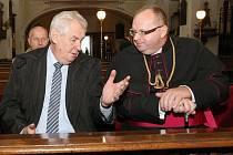 Prezident Zeman na návštěvě v litoměřické katedrále sv. Štěpána.