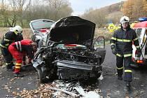 Dopravní nehoda mezi Hlinnou a Tluční, pátek 9.11.2012.