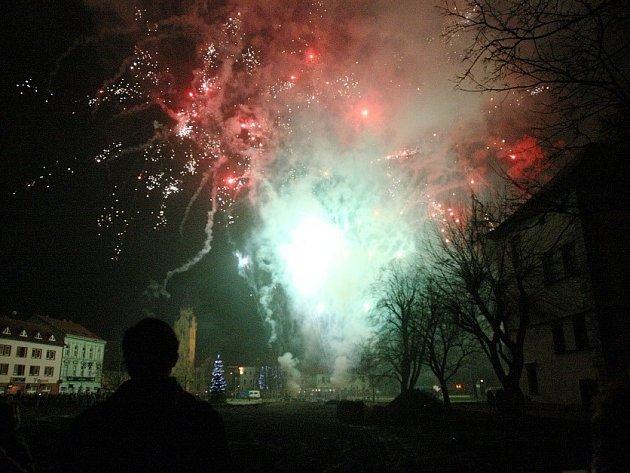 Ohňostroj v Lovosicích, 31.12.2013