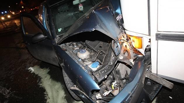 Sobotní nehoda v Lovosicích