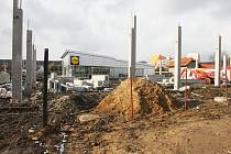Výstavba u Lidlu