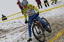 V TEREZÍNĚ byla vloni trať zasněžená. Potrápila i jezdce na horských kolech.