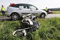 Smrtelná nehoda mezi Budyní a Mšeném.