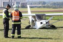 Nehoda ultralehkého letadla u Hrušovan.