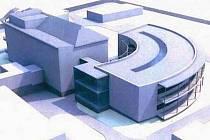 JEDEN Z NÁVRHŮ možné přístavby budovy chirurgie v Podřipské nemocnici s poliklinikou. Její kapacita by měla vystačit pro 45 pacientů.  Podle PNSP se jedná pouze o jeden z předběžných návrhů, protože mají být zpracovány i další projekty.